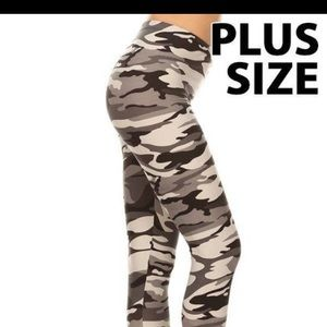 Pants - Camouflage grey leggings